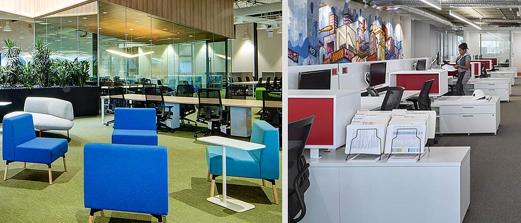Workspace design trends for greater productivity - Kite Pharma and Shawmut Contruction